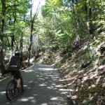 Strada di Brè, percorso ciclistico