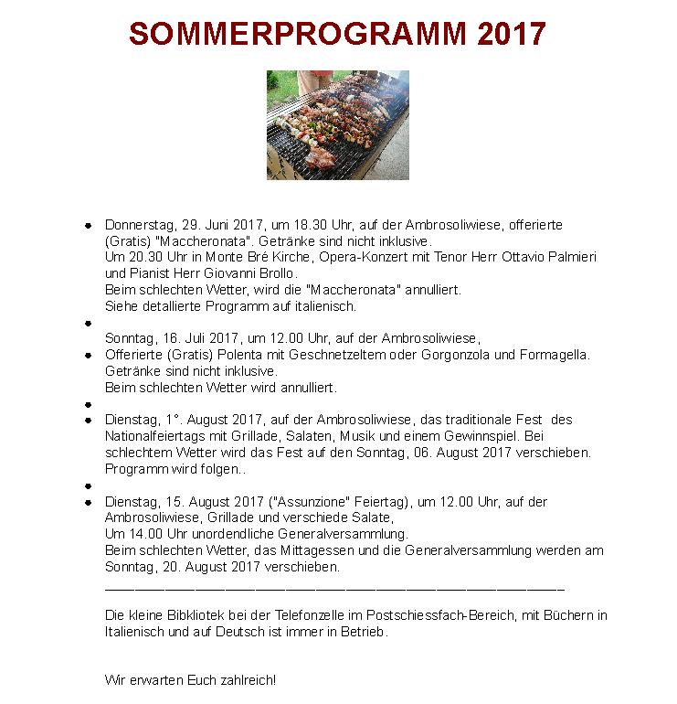Programma ex 2017